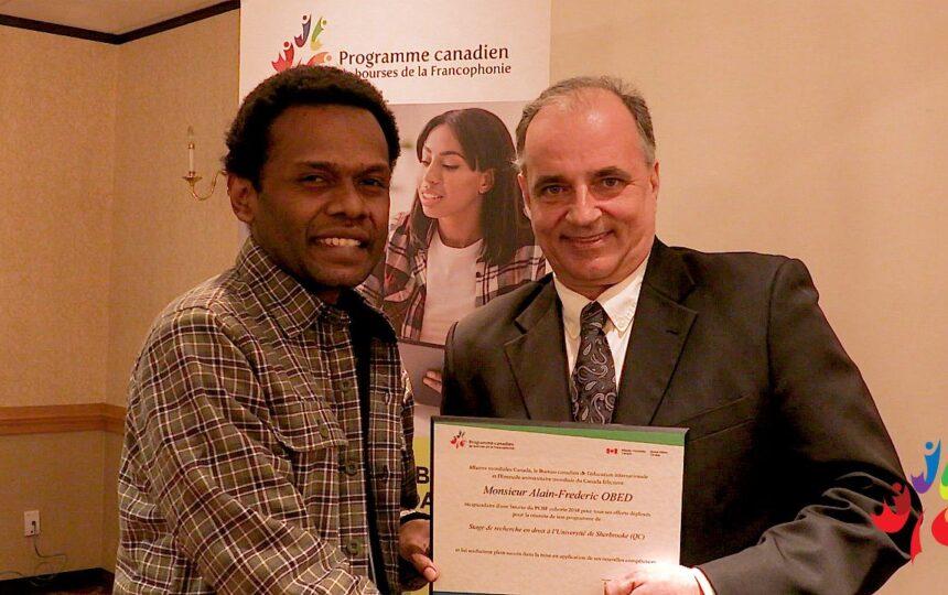 Du Vanuatu au Canada, l'expérience d'études d'Alain Obed l'influença de façons inattendues
